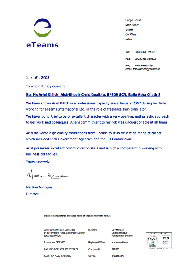 ETeams-Letter of reference Ariel Killick