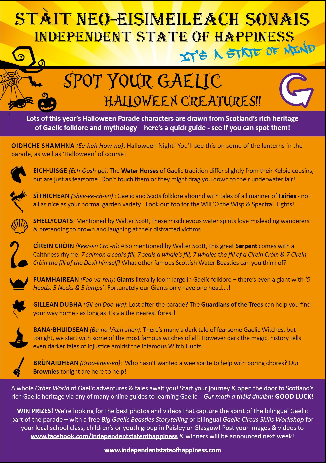 Independent State of Happiness Bilingual Gaelic Parade Guide